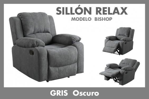 Sillón Relax BISHOP Gris Oscuro
