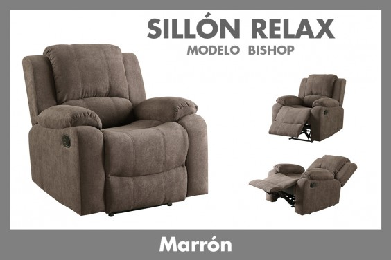Sillón Relax BISHOP Marrón