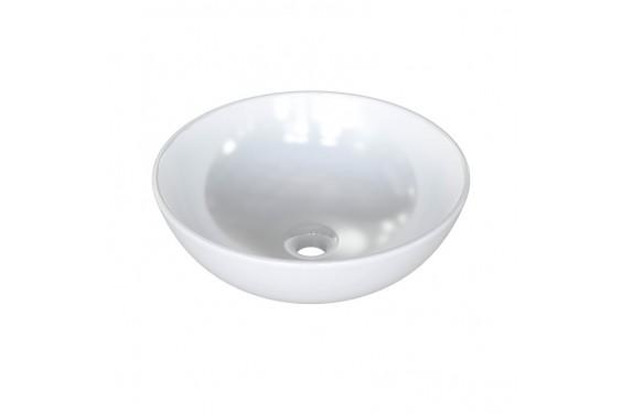 Lavabo cerámico Redondo sobre ENCIMERA 41,5 x 41,5 Blanco