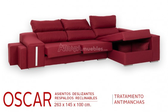 Chaiselongue Derecha OSCAR Granate