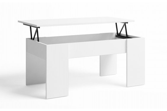 Mesa centro Elevable LOW Blanco Mate