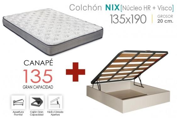 PACK Canapé EKO + Colchón NIX VISCO 135