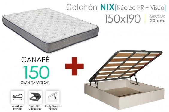 PACK Canapé EKO + Colchón NIX VISCO 150