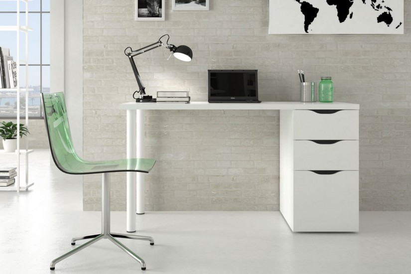 Mesa de ordenador con bandeja deslizable iplay al mejor precio for Muebles de escritorio baratos