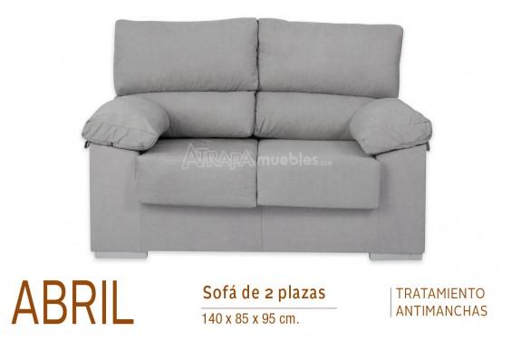 Sofá 2 Plazas ABRIL Gris Nido