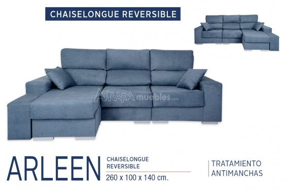 Chaiselongue ARLEEN Azul Reversible