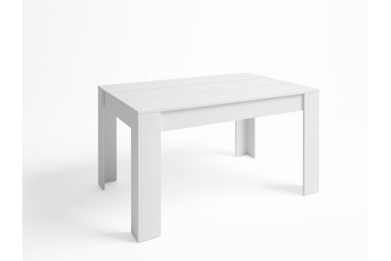 Mesa comedor Extensible BASS 140x90 Blanco Mate