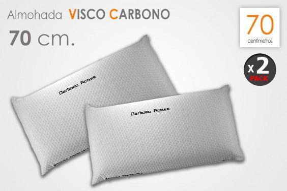 Pack 2 Almohadas VISCO CARBONO 70 CM