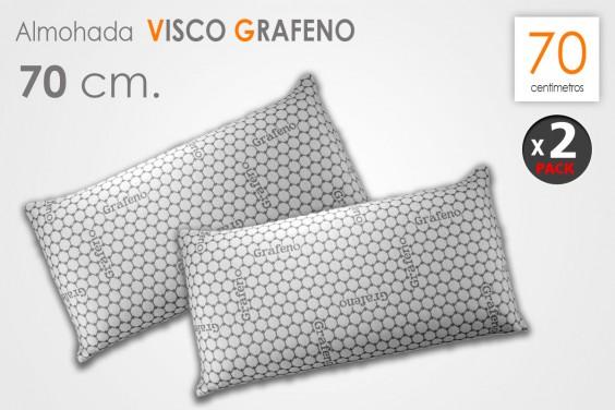 Pack 2 Almohadas VISCO GRAFENO 70 CM