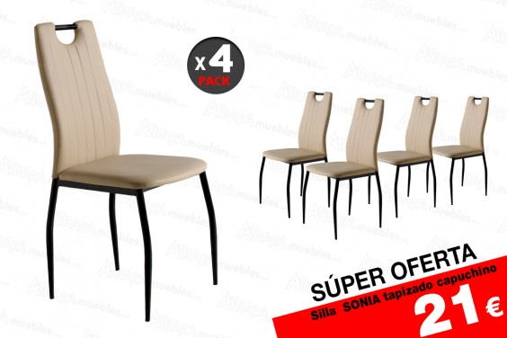 4 sillas salón SONIA Capuchino 21 €/u.