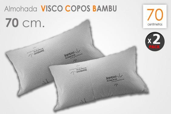 Pack 2 Almohadas VISCO COPOS Bambú 70 CM