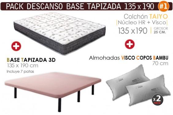 Pack AHORRO Descanso - Base TAIYO Visco 135x190