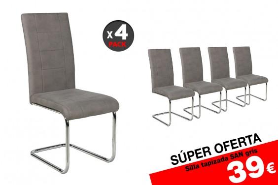 4 sillas salón SAN M023 Gris (39€/u)