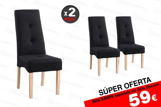2 sillas salón ESOPE Gris 59 € /u.