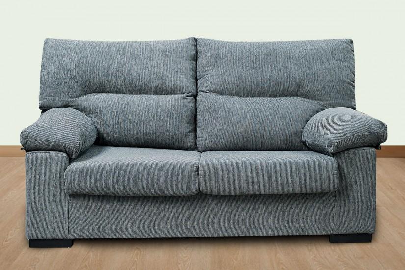 Sof 2 plazas sonja gris al mejor precio for Sofas de 3 plazas