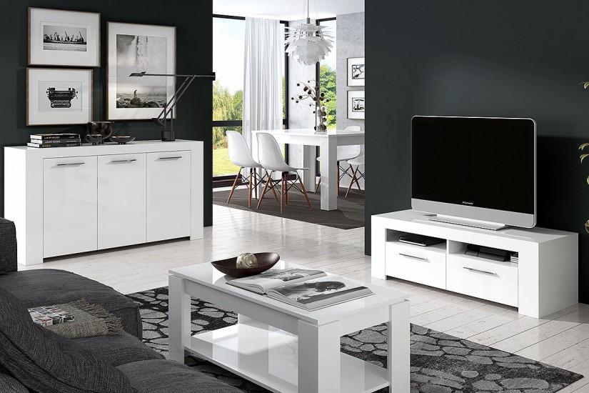 Mueble salón TV AMBIT color Blanco al MEJOR PRECIO