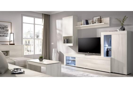 Mueble de salón KURE LEDs Roble Fines