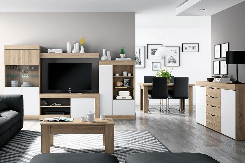 Mueble de sal n logan 004 al mejor precio for Mesas de television baratas