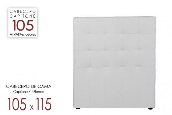 Cabecero de cama CAPITONE PU Blanco 105x115