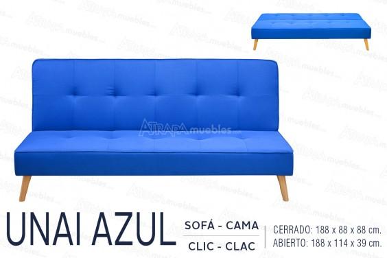 Sofá Cama UNAI Azul
