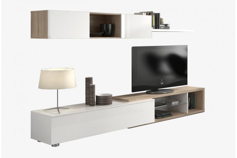 Mueble De Sal N Comedor Naia En Color Blanco Y Roble