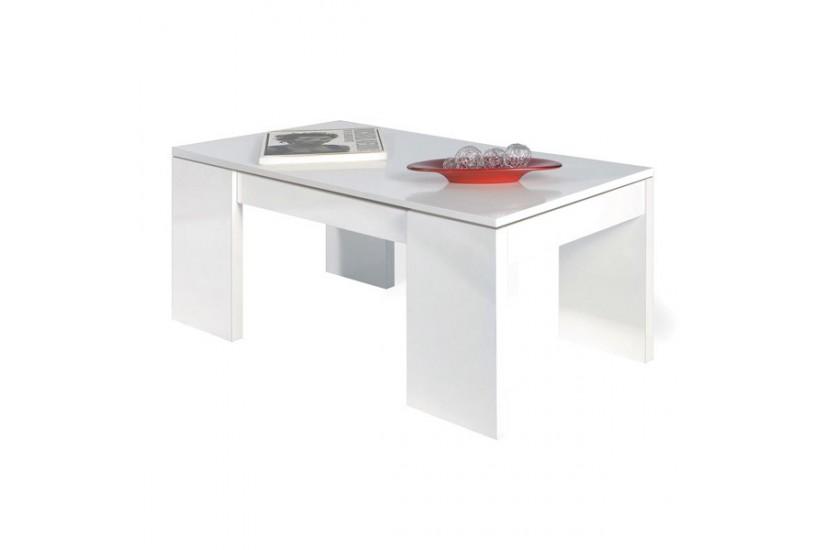 Mesa de centro elevable kendra color blanco al mejor precio - Precios de mesas de centro ...