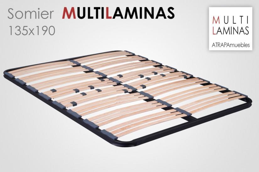 Somier multil minas 135x190 al mejor precio de internet - Somier laminas 135 ...