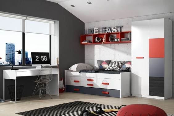 Cama doble juvenil GRAFFIC