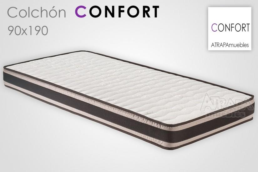 Colch n de 90x190 hr confort al mejor precio de internet for Colchon 70 x 190
