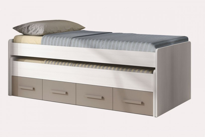 Cama doble juvenil ares plus for Cama nido doble