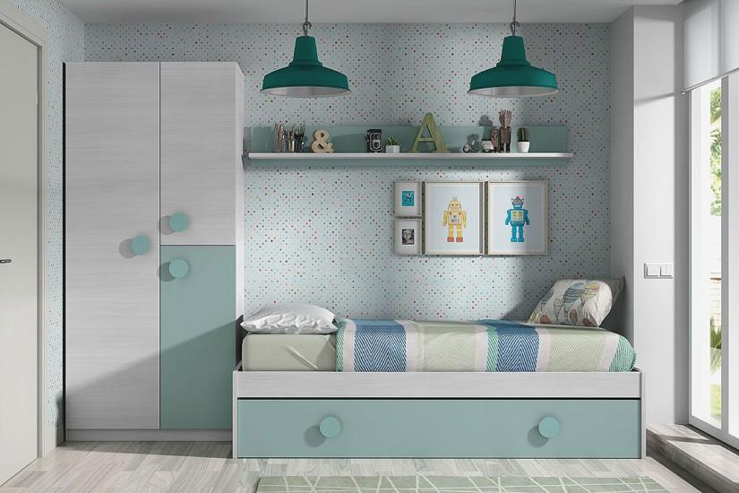 Dormitorios juveniles con cama grande otras propuestas for Donde puedo encontrar muebles baratos