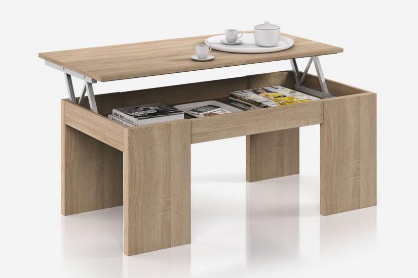 mesa de centro de roble