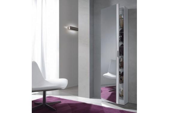 Zapatero puerta espejo Blanco