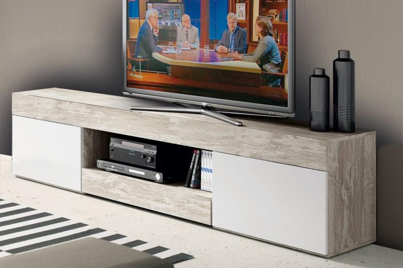 Mueble bajo tv logan al mejor precio for Mueble tv vintage