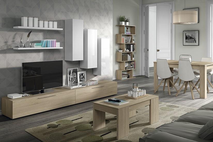 mueble de saln design roble canadian