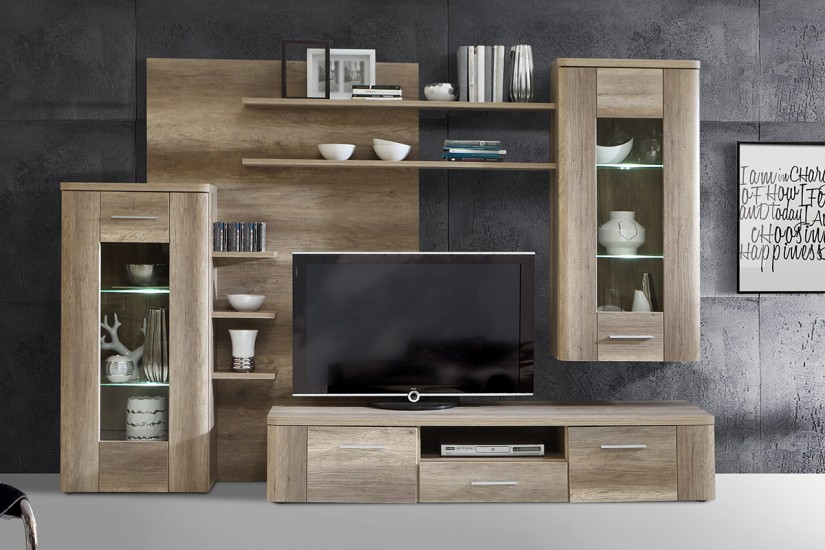 Mueble salon roble wengue 20170819040607 for Mueble wengue