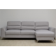 Sofá Chaiselongue 3 Plazas MIRACLE Gris claro REVERSIBLE