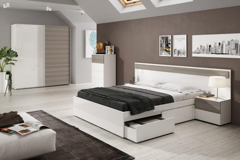 Armario 2 puertas correderas vintage for Dormitorios de matrimonio minimalistas