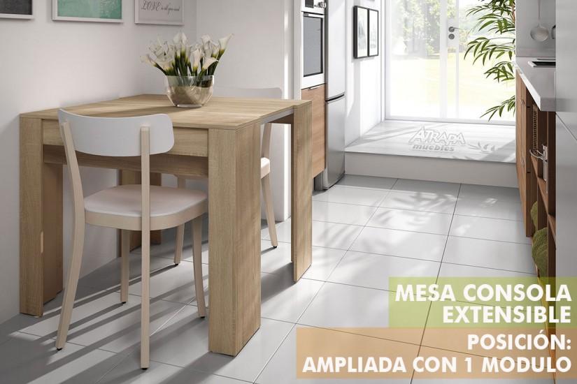 Mesa Consola comedor extensible. 4 en 1 De cónsola a mesa extensible ...