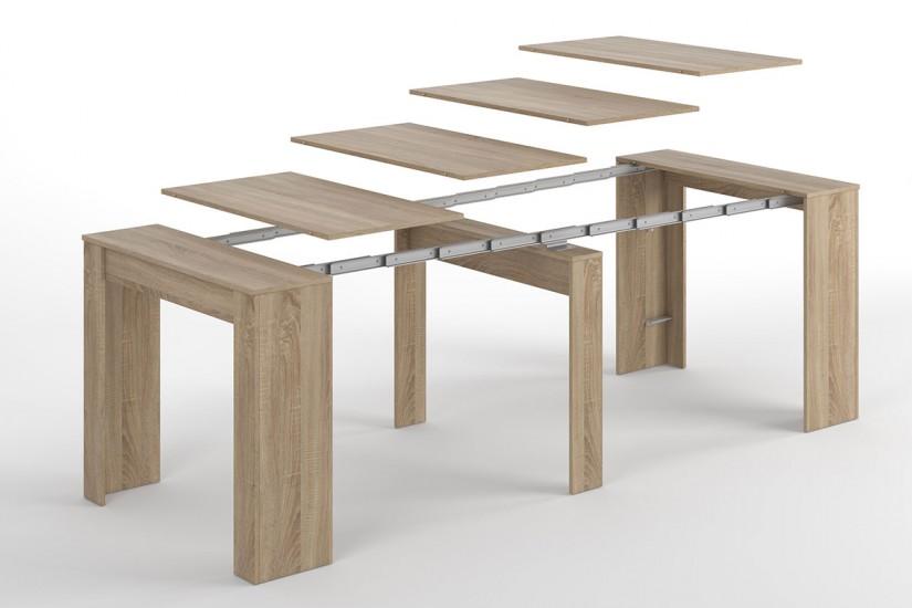 Mesa consola comedor extensible 4 en 1 de c nsola a mesa for Mesa consola extensible