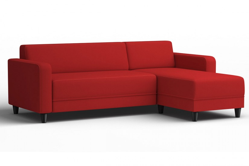 Sof chaiselongue de dise o 3p reversible en color rojo al for Sofas al mejor precio