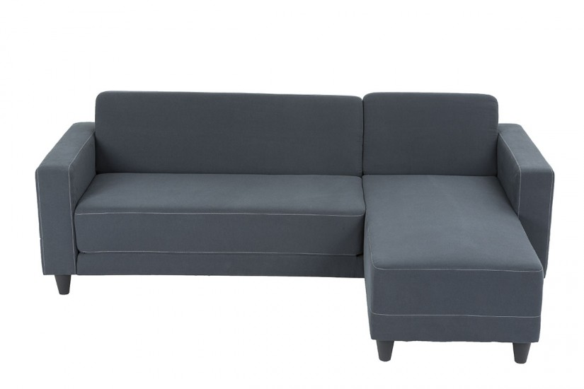 Sof chaiselongue de dise o 3p reversible en color gris al for Sofas al mejor precio