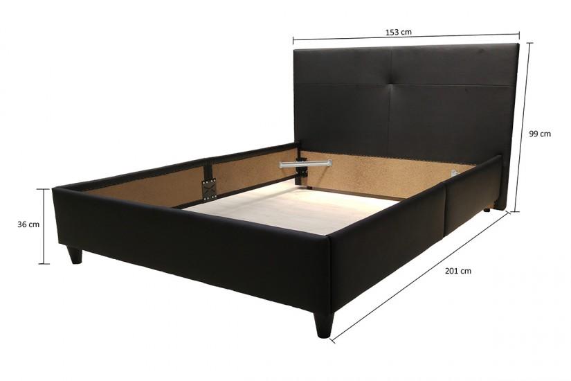 Cama tapizada AMBJORG (Cabecero + Estructura de cama 135) al mejor ...