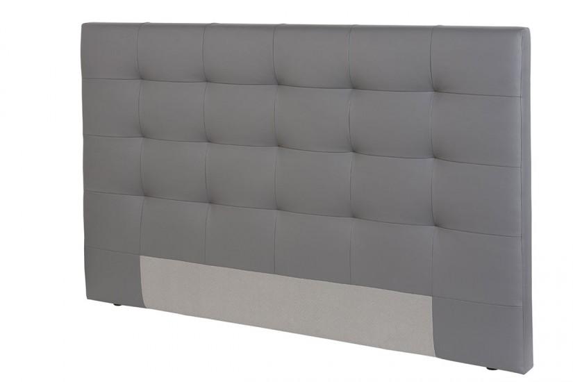 Cabecero capitone tapizado en piel sintetica de color gris - Fotos de cabeceros de cama ...