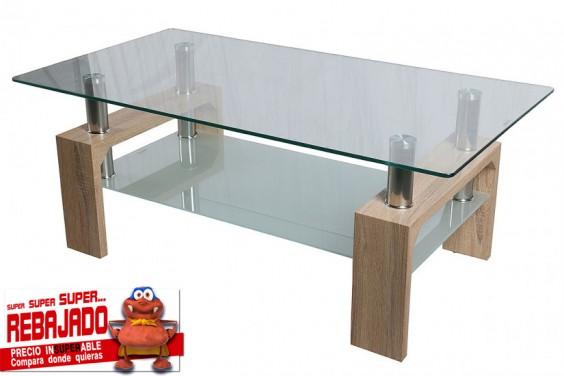 Mesa de centro cristal PODIUM