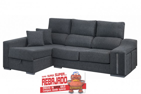 Sof s baratos cheslong atrapamuebles for Outlet sofas barcelona