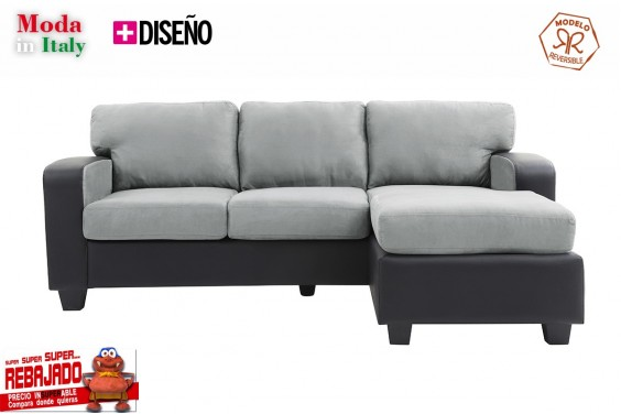 Chaiselongue OSLO Gris Claro Reversible