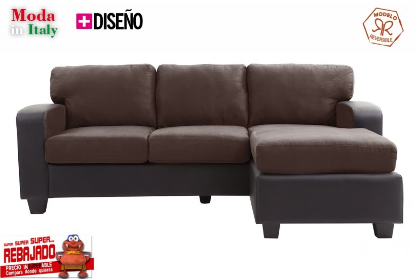 Sof chaiselongue de dise o 3p reversible en color for Sofas al mejor precio
