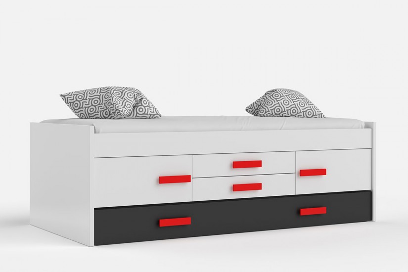 Top 28 cama doble graffic con somier cama compacta for Cama doble con cajones
