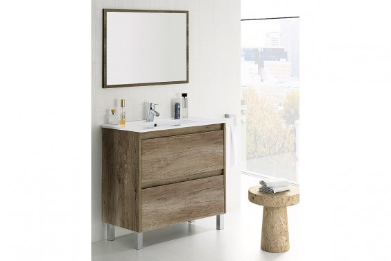 Mueble de Baño 2  Cajones y Espejo DAKOTA
